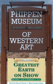 Phippen Museum Sign on Hwy 89