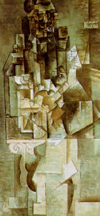 Picasso Cubist Man with a Guitar