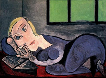 Pablo Picasso Reclining Woman Reading 1939