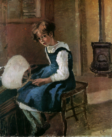 Pissaro Jeanne Pissaro with a Fan 1874