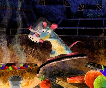Pixar's Remy at work in Ratatouille