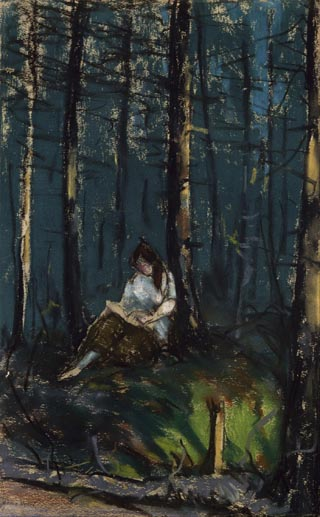 The Reader in the Forest, 1918