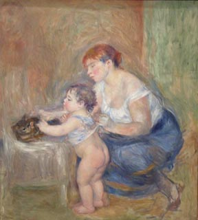 Pierre-Auguste Renoir Mother and Child ca 1895