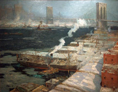 William Ritschel Winter Monring East River
