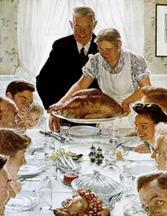 Norman Rockwell Thanksgiving Mid