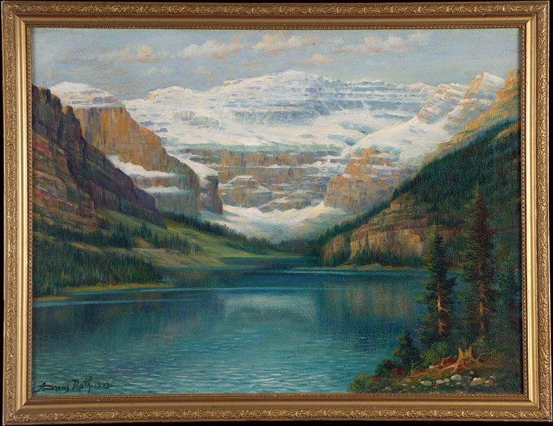 Andreas Roth Lake Louise 1943 with Frame