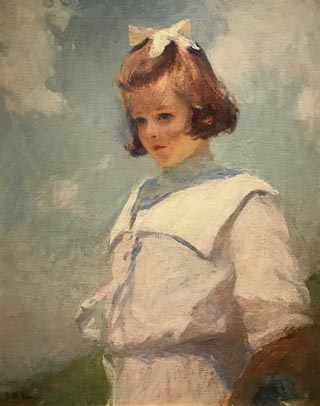 Portrait of Elisabeth, ca 1901 Frank Weston Benson, 1862-1951