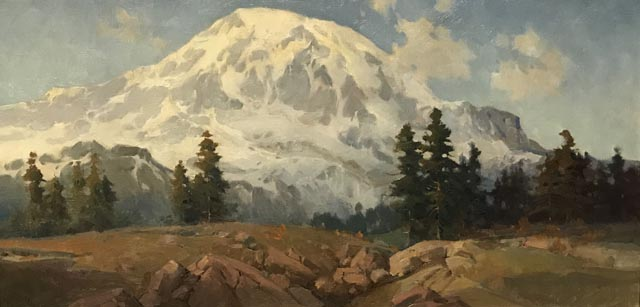 Mount Rainier, 1926 (oil on canvas) Percy Gray, American, 1869-1952
