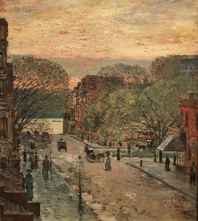 Spring on West 78th Street, 1905 Childe Hassam, American, 1859-1935