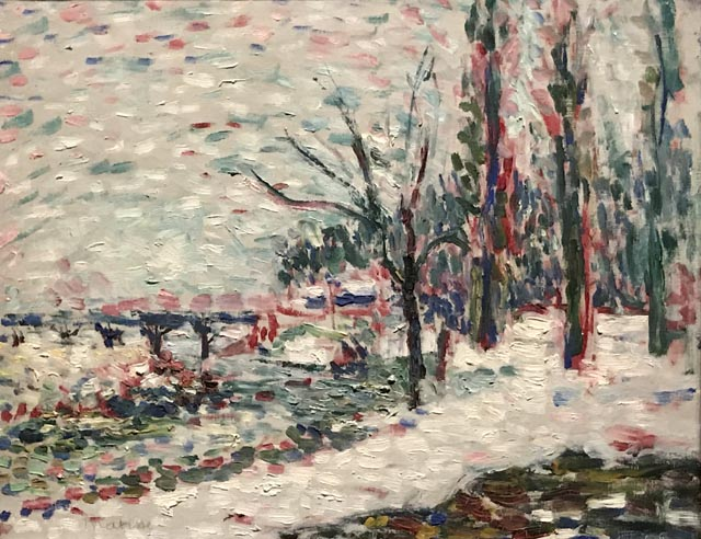 Winter landscape on the banks of the Seine, Henri Matisse