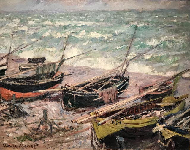 Fishing Boats at Etretat, 1885 Claude Monet, French, 1840-1926