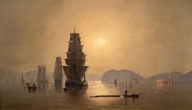Smoky Sunrise, Astoria Harbor, 1882 Cleveland Rockwell, American, 1837-1907