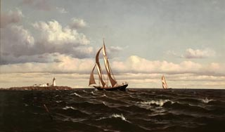 Off Eastern Point Light,  Gloucester, Massachusetts, 1874 Francis A. Silva, American, 1835-1886