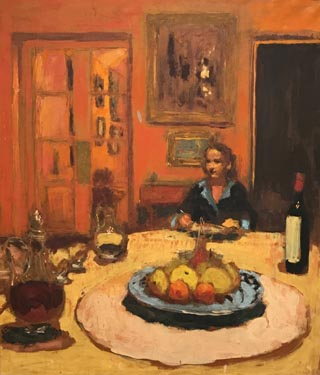 Dining Room, Rue de Naples, Paris, 1935 Edouard Vuillard, French, 1868-1940