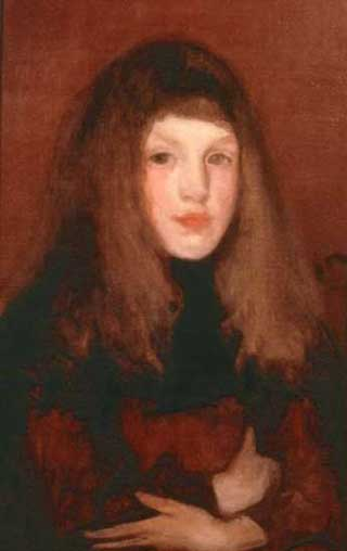 James Whistler Study in Rose  and Brown