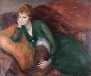 William Glackens Young Woman in Green