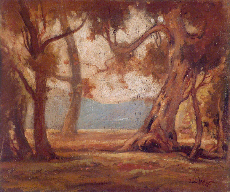 Davis Francis Schwartz California Landscape with Trees