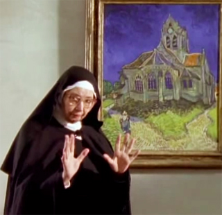 Sister Wendy with Van Gogh
