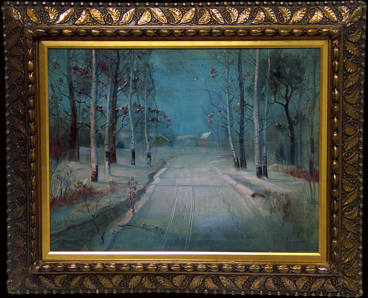 Svend Svendsen Path in the Snow with frame