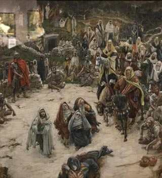 James Tissot, What Our Savior Saw from the Cross, c 1884-1894 Opaque watercolor on graphite, Brooklyn Museum, New York