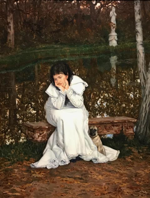 James Tissot, Melancholy, c 1869, Collection of Ann and Gordon Getty
