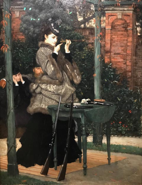 James Tissot, Safe to Win or The Crack Shot or At the Rifle Range, 1869 Wimpole Hall, Cambridgeshire, England