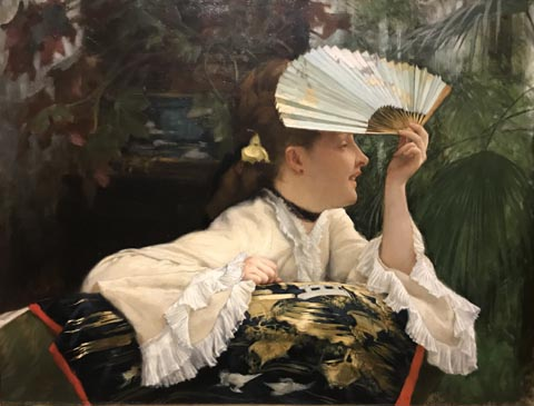 James Tissot, The Fan, 1875 Wadsworth Atheneum Museum of Art, Hartford, Connecticut