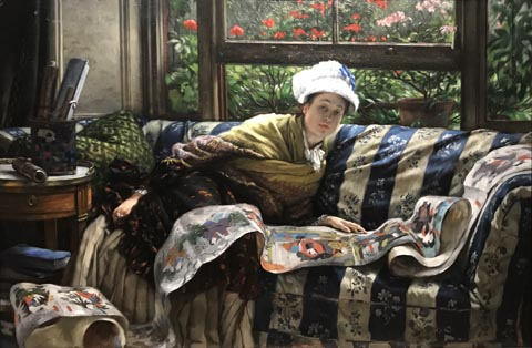 James Tissot, The Japanese Scroll, 1872-73 Private Collection