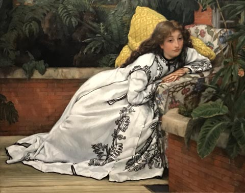 James Tissot, The Convalescent (Girl in an Armchair), 1872 Art Gallery of Ontario, Toronto