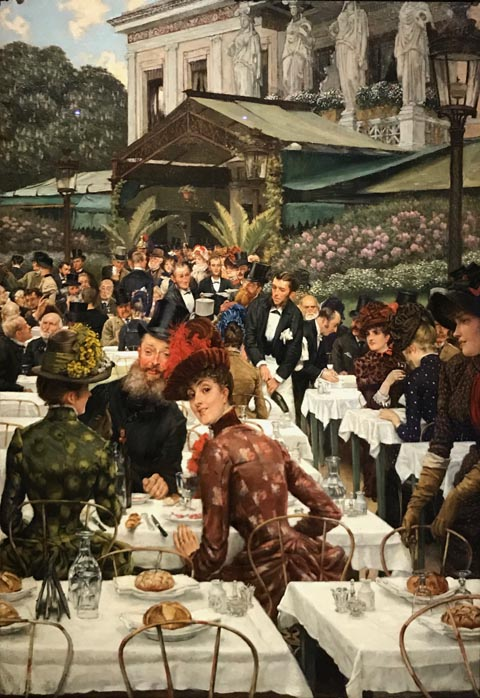 James Tissot, Painters and their Wives or The Artists' Wives, 1883-85 Chrysler Museum of Art, Norfolk, Virginia