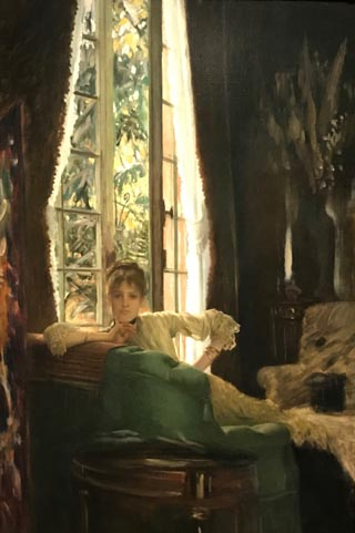 "James Tissot, Study for ""The Sphinx"" or Woman in an Interior, 1883-85 Private Collection"