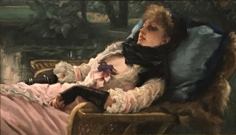 James Tissot, Summer Evening or The Dreamer, 1881-1882 Musee d'Orsay, Paris