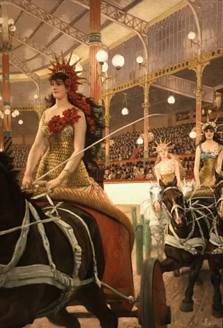 James Tissot, The Ladies of the Chariots, c 1883-85 Museum of Art,  Rhode Island School of Design, Providence