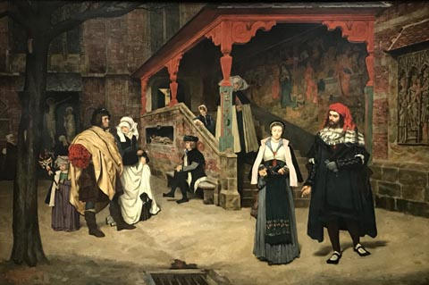 James Tissot, Meeting of Faust and Marguerite, 1860 Musee d'Orsay, Paris