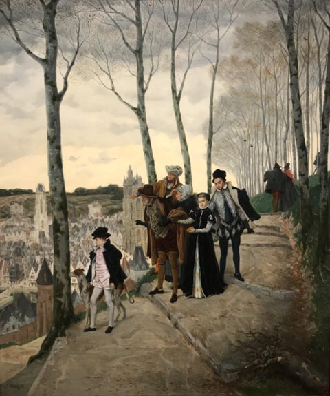 James Tissot, Promenade on the Ramparts, 1864 Cantor Arts Center, Stanford University, California