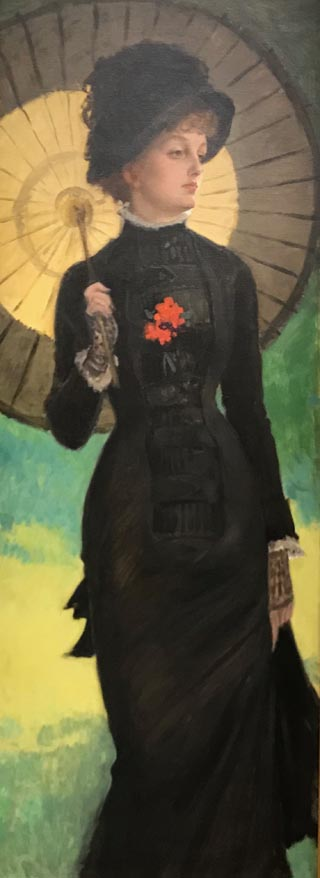 James Tissot, Mrs. Newton with a Parasol, 1878 Musee Baron Martin, Gray, France