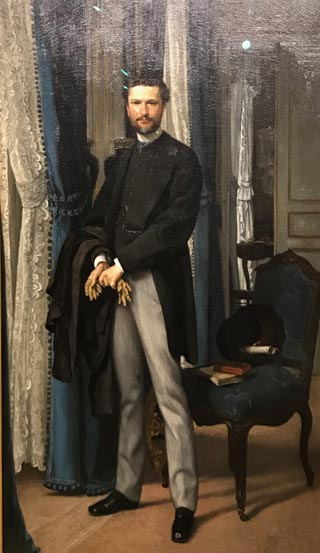 James Tissot, Portrait of Aime Seilliere, 1866 Staatliche Kunsthalle Karlsruhe, Germany