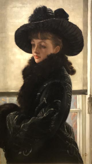 James Tissot, Winter or Mavourneen, or Portrait of Kathleen Newton, 1877 Private Collection