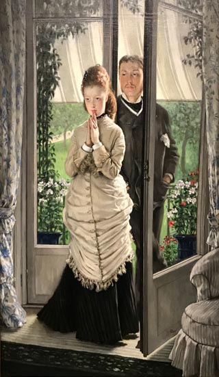 James Tissot, Two Figures at the Door or The Proposal, 1872 Collection of Ralph and Terry Kovel