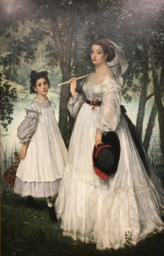 James Tissot, Portrait of the Two Sisters, 1863 Musee d'Orsay, Paris