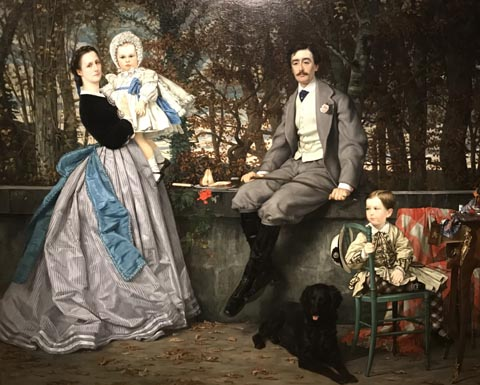 James Tissot, Portrait of the Marquis and Marquise de Miramon and Their Children, 1865, Musee d'Orsay, Paris