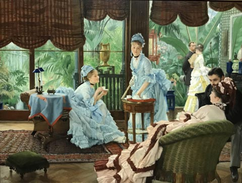 James Tissot, Afternoon Tea or In the Conservatory, 1874 Collection of Diane B. Wilsey, San Francisco