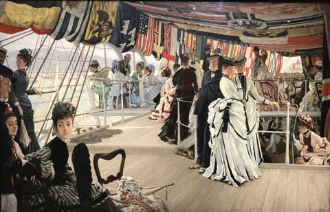 James Tissot, The Ball on Shipboard, 1874 Tate Britain, London