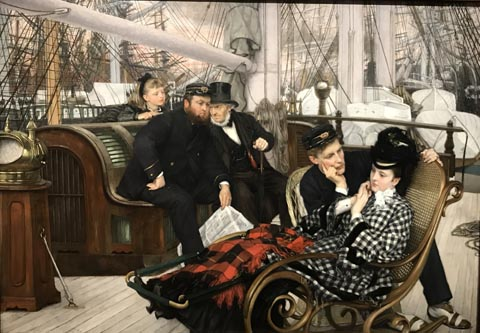 James Tissot, The Last Evening, 1873 Guildhall Art Gallery, London