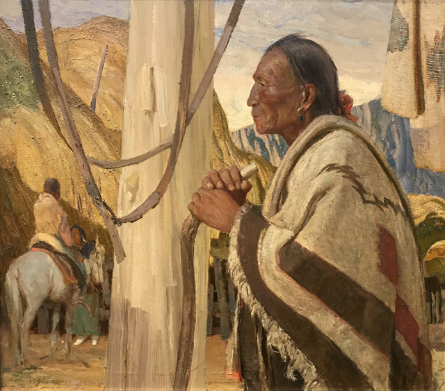 Santiago, the War Chief, 1930 Oscar Berninghaus, 1874-1952 Harwood Museum of Art, Taos