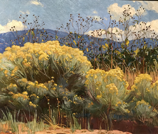 Chamisa in Bloom, c 1920 E. Martin Hennings, 1886-1956 Harwood Museum of Art, Taos