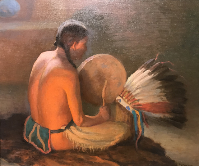Chant to the Warbonnet, c 1920 Joseph Henry Sharp, 1859-1953 Harwood Museum of Art, Tao