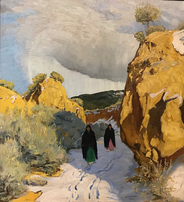 Winter in New Mexico, c 1930 Walter Ufer, 1876-1936 Harwood Museum of Art, Taos