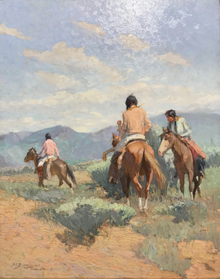 An Uncertain Trail, 1915 Oscar Berninghaus, 1874-1952 Taos Art Museum at Fechin House