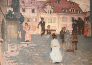Paris Street Scene, ND Ernest L. Blumenshein, 1874-1960 Taos Art Museum at Fechin House